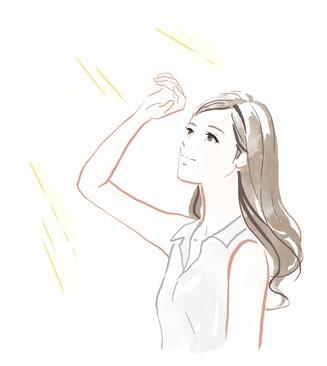 紫外線による日焼けや炎症